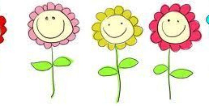kreslené květiny