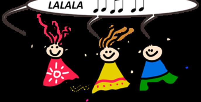 zpívající kreslené děti